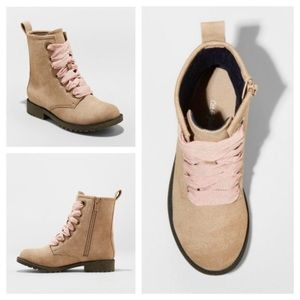 Cat & Jack Lace up Boots Lida Taupe